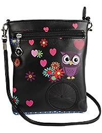 Stylish Multi Color Printed PU Leather Sling Bag For Girls / Women / Ladies 3 Zipper Pocket Cross Body Bag By... - B073RJSDZR