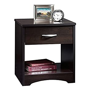 Decornation Meraki Engineered Wood End Table Night Stand Side Table With Drawer And Storage (Walnut)