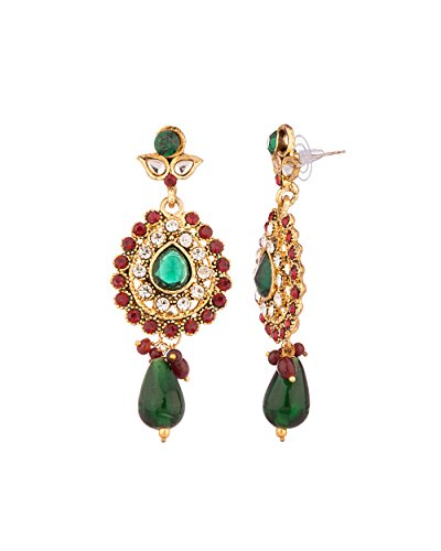 Voylla Aesthetic dangler Earrings With CZ Embellishments  available at amazon for Rs.139
