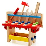 FunBlast Tool Set Toys for Kids, Pretend PlaySet, Colorful Wooden Puzzle Tool Table