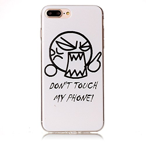 Apple iPhone 7 Plus 5.5 Hülle, Voguecase Schutzhülle / Case / Cover / Hülle / TPU Gel Skin (Schildkröte) + Gratis Universal Eingabestift Wütend/weiß