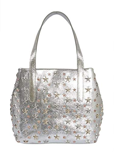Jimmy Choo Borsa A Mano Donna Sofiasgtachampagnerose Pelle Argento