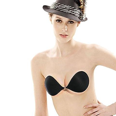 Igemy Frauen Sexy trägerlos unsichtbar Silikon Push Up Paste Typ BH (A) (Polyester Gel Paste)