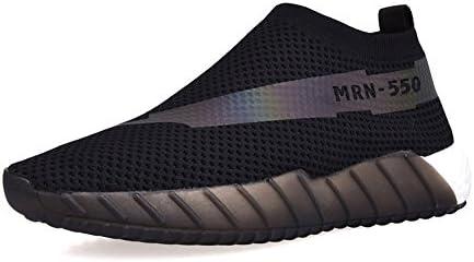 Wenzhihua Zapatos Deportivos de Verano, Zapatos Casuales ahuecados de Malla (24.0-27.0cm) (Color : Negro, tamaño...