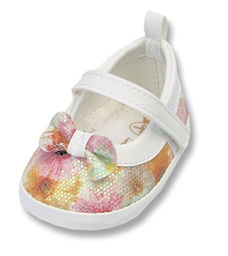 Ikumaal Festlicher Schuh Für Taufe Oder Hochzeit - Taufschuhe Für Baby, Babies, Mädchen, Jungen, Kinder, in Verschiedenen Größen 16-19, Tp30 Bunt, 16 EU -