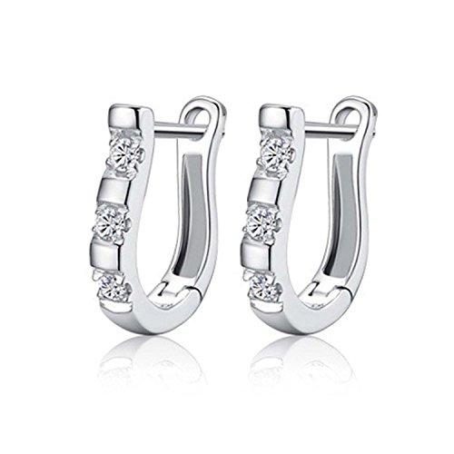 1 Paar schicke Dame Ohrringe klassische Dames-Creolen 0489
