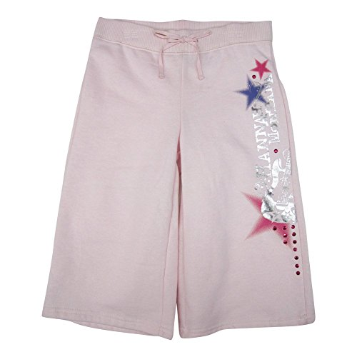 Kleine M?dchen blass rosa Hannah Montana Star Bell Bottom Capri Hose 6 X (Hannah Montana Capri)
