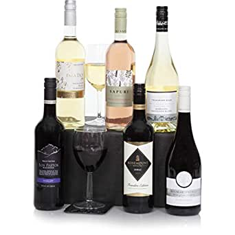 Six Bottle Wine Selection - Wine Case Including Premium Red, White & Rose Wines - Wine Hampers