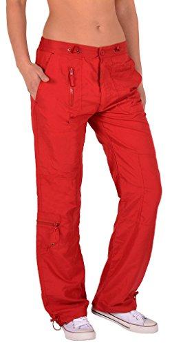 Pantalon femme pantalon de sport pantalon de loisirs H118 Rouge