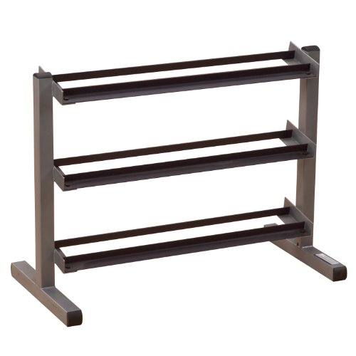 Body Solid mancuerna rack, 3 niveles