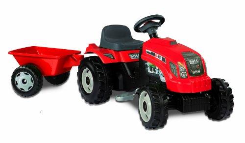Smoby - 033045 - Vélo et Véhicule pour Enfant - Tracteur Grand Modèle + Remorque