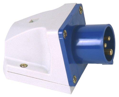Preisvergleich Produktbild Unitec 47405L Caravan-CEE-Wandgerätestecker 16A,  3-polig,  blau