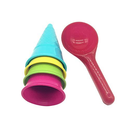Descripción   Este es un conjunto de juguetes de playa de 5 piezas, que está hecho de plástico de primera calidad. Los juguetes son seguros, no tóxicos y duraderos. Además, también pueden promover la capacidad de los niños para el conocimiento del c...