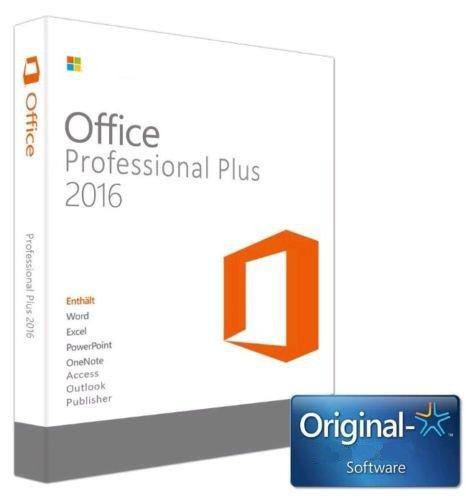 Produktbild MS Office 2016 Professional Plus Pro Plus 32 Bit 64 Bit ESD Key Schlüssel