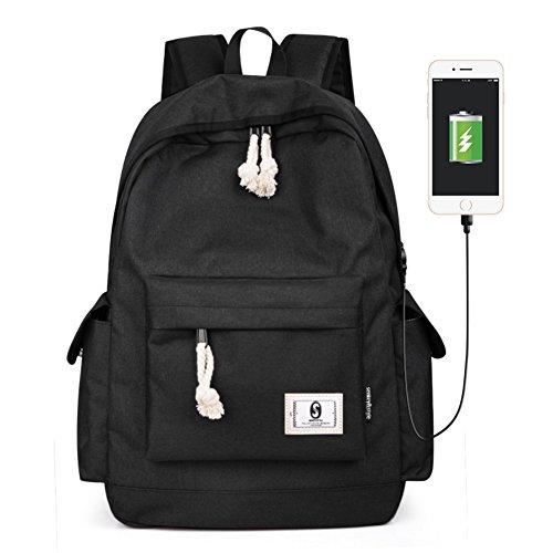 Grande capacit¨¤ borsa leggera computer ,zaino femminile casuale di modo-A B