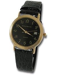 Philip Mercier SML04/B - Reloj de caballero de cuarzo color negro