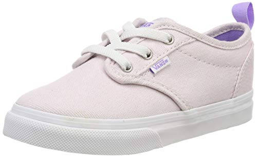 Vans Unisex Baby Atwood Slip-on Sneaker, (Glitter) Pink Vi4, 24.5 EU