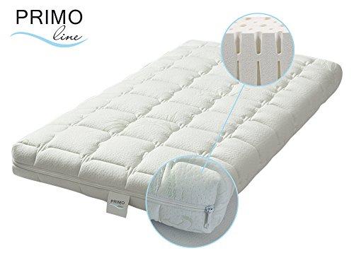 Primo Line Latex Babymatratze Lux - Babybett Matratze 70x140 Höhe 12 cm - Bezug waschbar mit Reißverschluss - zertifiziert ÖKO TEX® Standard 100 Klasse 1 / für Babys geeignet