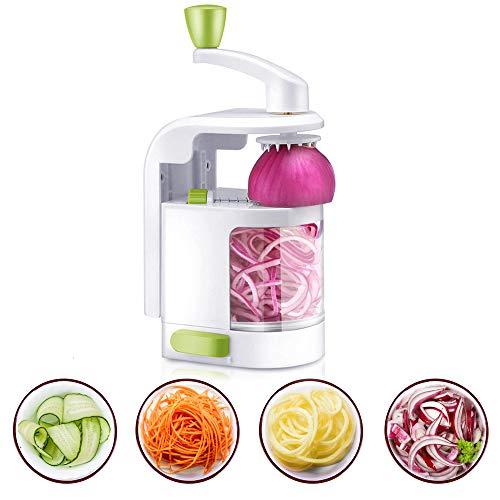 Spiralizer Trancheur Multi-Fonction, Spirale de Légumes à 4 Lames, Spiraliseur Végétarien...