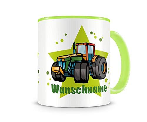 Samunshi Kinder-Tasse mit einem Traktor Trecker als Motive für Kinder Kaffeetasse Teetasse Becher...