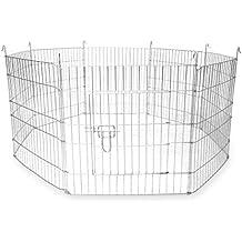 Large Outdoor Pet Playpen | 8 Panel Enclosure | Small/ Medium Pets | M&W