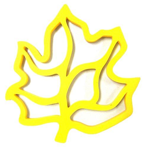 Kuke Maple Leaf Design Silikon Wasserdicht Magnetischer Matte Tisch-Sets Topflappen gelb -