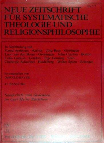 Neue Zeitschrift für Systematische Theologie und Religionsphilosophie [Jahresabo]
