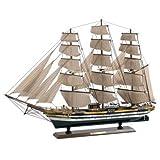 Venne decorativa realizzata in legno, dipinto e completamente montata in modo artigianale.L' Amerigo Vespucci (1930), che porta il nome di un simpatico navegante italiano, è il più antico velero-escuela della Marina Italiana. Si utilizza per la forma...