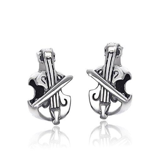 MATERIA 925 Silber Beads Geige Element antik - Silber Beads Violine für European Beads Armbänder #1350