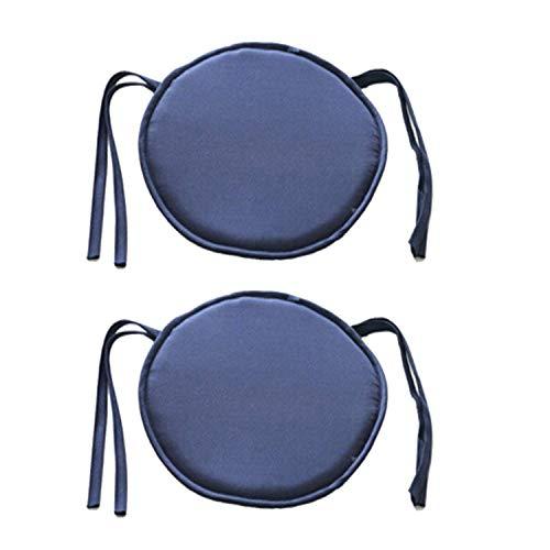 de Esszimmer Stuhl Kissen Stuhl Sitzpolster mit Schnüren Für Terrasse Haus Auto Sofa Büro Tatami Indoor Outdoor Dekoration, 40cm × 40cm (Marineblau) ()