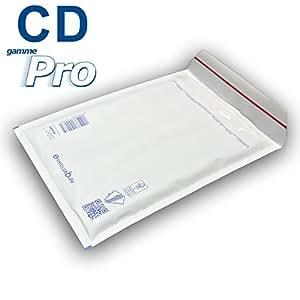 Lot de 50 enveloppes à bulles blanches gamme PRO spécial CD format 145x175mm