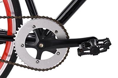 KS Cycling Fixie Fitnessbike 28'' Flip Flop schwarz-rot RH 59 cm Fahrrad, 28