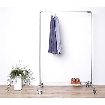 paipa Kleiderständer aus Wasserrohr mit Rollen - extrem