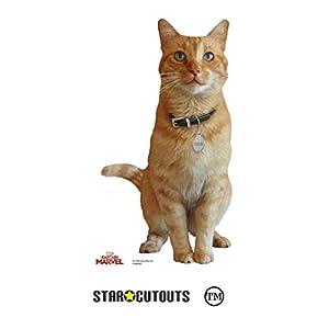 Star Cutouts SC1304 Ganso (Capitán Marvel) Estrella cartón recorte perfecto para fiestas, eventos y regalos 40 cm de alto gato Mini Standee, multicolor