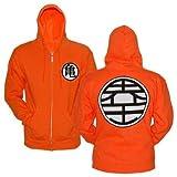 Ripple jonction Dragonball Z Goku Kame Symbole Orange Taille : Select-Veste zippée à Capuche - - Moyen