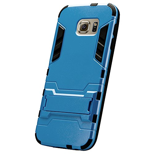 iPhone 6 Plus DUPLEXSCHUTZEN hochwertige Silikon Hülle Jisoncase Apple iPhone 6 Plus TPU Case Schutzhülle Cover Etui Handyhülle gold Lbt-I6L-19P84 blau