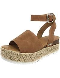 f58a9bb34780 Retro Peep Toe Buckle Strap Wedges Sandals for Women Summer Fashion Ladies  High Heels