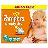 Pampers Simply Dry Größe 5 (11-25kg) Jumbo Box Junior 66 pro Packung
