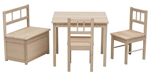 Impag Kindersitzgruppe mit Kindertruhenbank inkl. Feststellmechanismus Eva aus Buche / Erle Hartholz