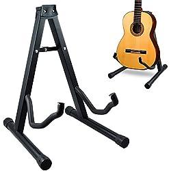 Soporte de guitarra acústica o eléctrica - universal y plegable