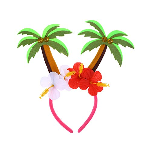 STOBOK Lindo Diadema Coco Árbol Cabello Aro Diadema para Niños Adultos Cumpleaños Fiesta Hawaiana Favores Accesorios Para el Cabello