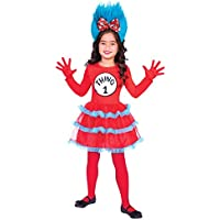 amscan Disfraz de niña para niña Dr. Seuss Thing One and Thing 2 XL ( 83d2d83d6eb
