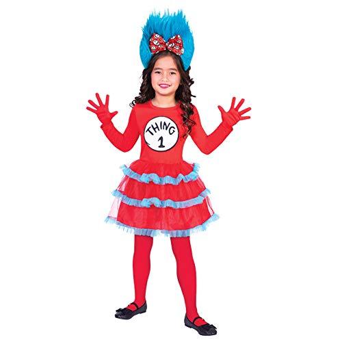 (amscan Dr. Seuss Ding 1 & Ding 2 Kleid - Kostüm Kinder Mädchen)