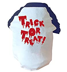 Trick or Treat two toned dog vest pink or blue
