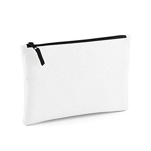 Bagbase - Pochette zippée (Taille unique) (Blanc/Noir)