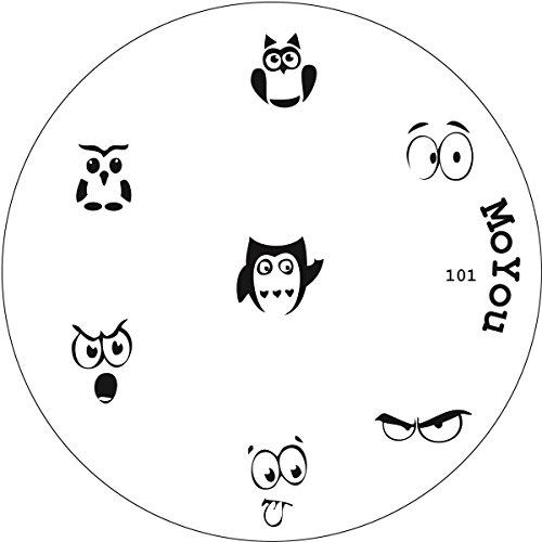 Moyou n° 101 Authentique matrice de pochoirs Moyou pour Nail Art Stamping Motif chouette