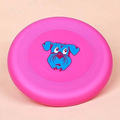 WSS Perros de Frisbee perro juguetes de formación . rose red