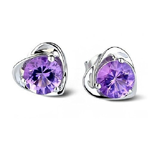lucky-will-women-ladies-cute-sterling-silver-amethyst-purple-austria-crystal-stud-earrings