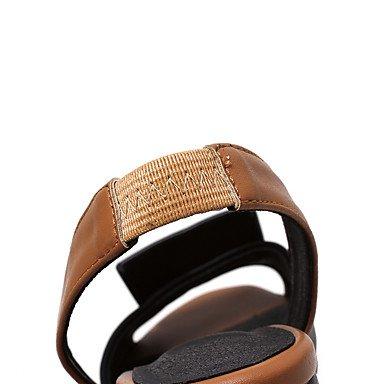 LQXZM Les femmes Sandales Slingback D&#039;Orsay &AMP; deux-pièces en simili cuir Semelles confort Light Spring Summer Outdoor Office &AMP; Joint de séparation de DressGore Carrière Silver