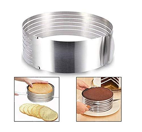 Itian Molde para laminar tartas, rebanador de la rebanada de la torta de la capa del kit de la rebanada...